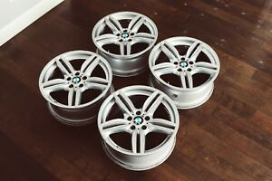 19 Bmw Oem Double Spoke M Sport Wheels Style 351 5x120 8 5 Square