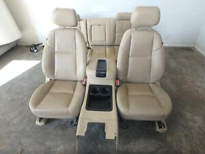07 14 Chevrolet Silverado 1500 2500 Front Rear Seat Console Tan Leather Power