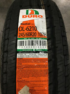 1 New 245 60 20 Duro Frontier H t Tire