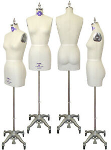Pgm Professional Dress Form Half Body With Collapsible Shoulders Size 12