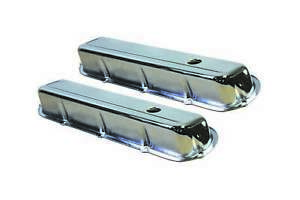 Specialty Chrome Steel Stock Height Valve Covers Cadillac V8 P N 7553