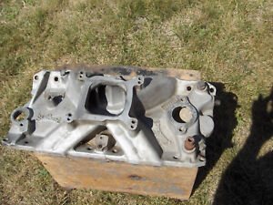 Hot Rod Vintage Edelbrock 2725 Torker Intake Manifold Small Block Chevy