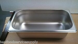 lot Of 6 Third Size 4 Deep Stainless Steamtable Pans Hot Food Table Steam Pan