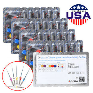 30pcs Cicada Dental Rotary Niti Endodontic U files Mixed Assorted Sx f3 Fda Ce