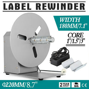 Automatic Label Tag Rewinder Rewinding Machine Free hand Alloy Steel 110v Newest