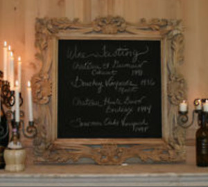 French Country Farmhouse Wall Chalk Menu Board Frame Ad Specials Sales
