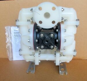 Sandpiper 1 Air Diaphragm Pump S10 Pvdf kynar Body W Teflon Diaphragms New