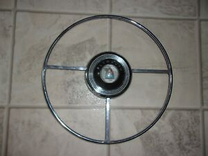 1946 1947 1948 Plymouth Steering Wheel Horn Ring With Nice Original Mopar Button