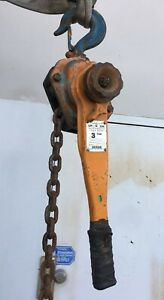 Beebe L4h600 Roustabout 3 Ton Lever Chain Hoist 5 Ft Lift Made In Usa h1