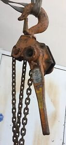 Beebe Lh1800 Roustabout 9 Ton Lever Chain Hoist 5 Ft Lift Made In Usa h6