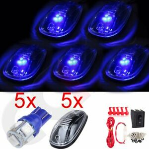 5x 12v 5050 Led Roof Marker Running Lights Lamps Wiring Switch Kit Truck Suv