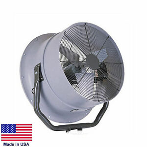 High Velocity Fan Industrial Opt Mounting 30 7900 Cfm 1 2 Hp 115 230v