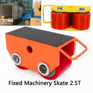 Heavy Duty Machinery Mover W 360 Rotation 2 5 ton 5500lb capacity 2 pu Rollers