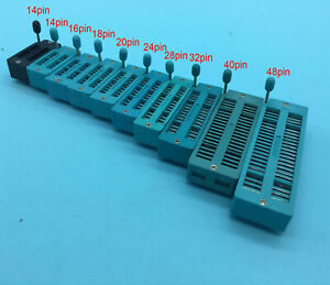 14 16 18 20 24 28 32 40 48pin Option 2 54mm Dip Test Universal Zif Dip Ic Socket