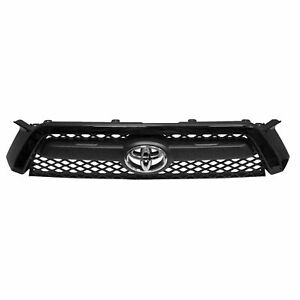For 2010 2011 2012 2013 Toyota 4runner Grille Black Without Chrome Trim