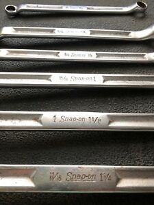 Snap On Xv 1954 Sae Large Double Box End Wrench Lot Partial Set