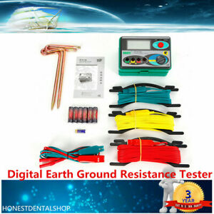 Dy4100 Digital Earth Ground Resistance Tester Meter 0 20 200 2000