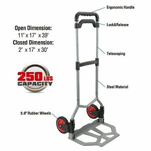 Pack n roll 83 298 917 Folding Hand Truck Dolly 250 Lbs Capacity Dollies