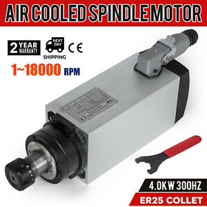 Cnc 4kw Air cooled Spindle Motor Er25 Impact Structure Mill Grind 4 Bearing