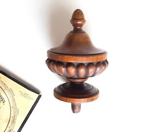 Tall Antique Wood Newel Post Finial End Decoration Salvaged Architectural 5 47