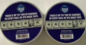 6 Rolls Ipg Aluminum Hvac Foil Tape 1 88 X 50 Yd High Tack Pressure Sensitive