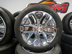 2018 Gmc Chevy Accessory 22 Snowflake Wheels And Tires Brand New