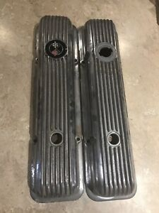 Chevy Sb Corvette Valve Covers Aluminum Finned Lt1 350 Z28 Dz 302