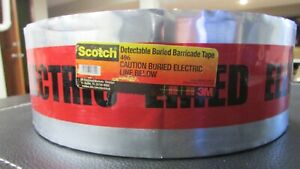 Detectable Underground Tape 3 X 1000 Caution Buried Electric Line Below