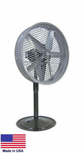 Pedestal Fan Industrial High Velocity 230 460v 1 5 Hp 3 Phase 24 Osha