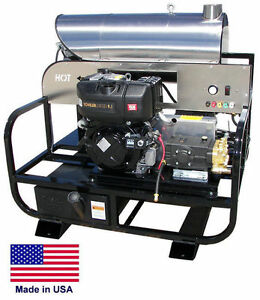 Pressure Washer Diesel Hot Water Skid Mounted 4 Gpm 3200 Psi 9 Hp 12v