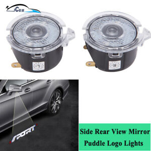 2pcs Side Rear View Mirror Puddle Led Sport Logo Light For Ford Lincoln Tundra