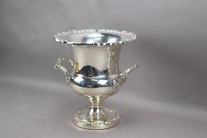 Countess Champagne Ice Bucket International Silver Co Plated Footed Handles