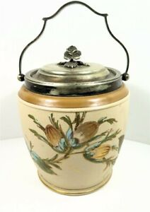 Antique Taylor Tunnicliffe Co Silverplate Biscuit Barrel Jar 9