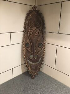 Old Gope Board Wood Papuan Gulf Papua New Guinea Carved Wood Mask 29 Tall Old