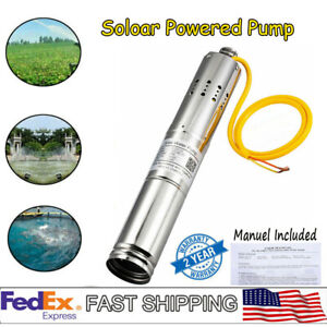 12vdc 2m h Solar Powered Water Pump Submersible Bore Hole Deep Well 20m Life