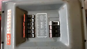 Federal Pacific Panel Box With Breakers Subpanel