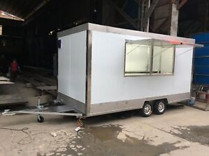 Brand New 4mx2m Concession Stand Trailer Mobile Kitchen With Hood Ship By Sea