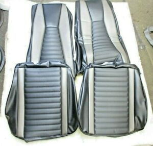 1971 1973 Mustang Mach 1 Front Bucket Seat Covers Tmi Black gray