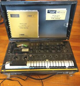 B k 747 Dyna jet Dynamic Mutual Conductance Tube Tester W manuals Works Great