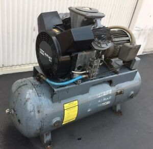 Atlas Copco Directair Le8 7 1 2hp 2 Stage Air Compressor 230 460v 3phase 80 Gal