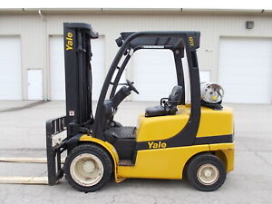 Yale Glp060vx 6000 Forklift Pneumatic Tire Forklift Hilo Yale Towmotor Rigger