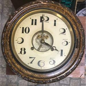 Antique Wall Clock Decor Home Decorative Japan Vintage Wooden Very Rare F S
