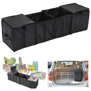 Car Trunk Suv Auto Organizer Portable Collapsible Storage With 2 Thermal Cooler