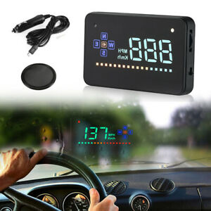 Universal Gps Hud Digital Head Up Display Car Truck Speedometer Mph Km H Ma1600