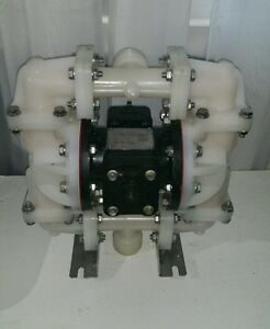 Used Sandpiper Pump S07b1k2kpns000 Diaphragm Pump Air Operated Pvdf 100 Psi