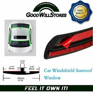 Car Front Rear Windshield Sunroof Window Rubber Seal Strip Trim Universal 28ft