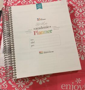 Brand New erin Condren Academic Planner 12 Month non Dated no Cover