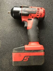 Snap On Ct880b 18v 3 8 Impact Gun With Battery And Boot Red