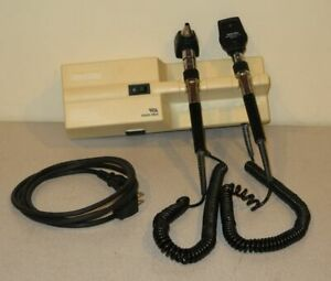 Welch Allyn 767 Wall Mount 3 5v 25020 Otoscope 11710 Ophthalmoscope Set