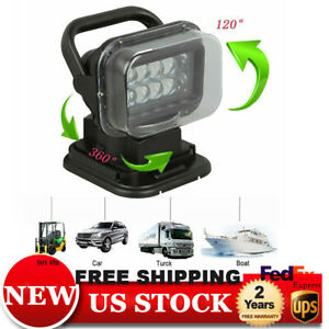 50w Led Search Light With Remote Marine Boat For Car Waterproof Spotlamp